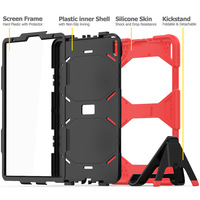 galaxy s4 Case For Samsung galaxy Tab S4 10.5 inch T830 T835 Waterproof Shock Dirt Snow Sand Proof Extreme Heavy Duty Kickstand Cover (4)