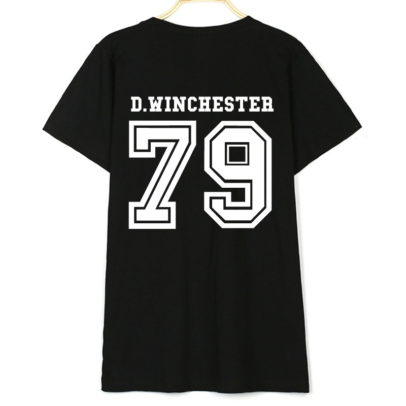 Supernatural Shirt Dean Winchester Shirt D.winchester 79 Back Letters Print Women TShirt Casual Cotton Funny Tshirt ZH
