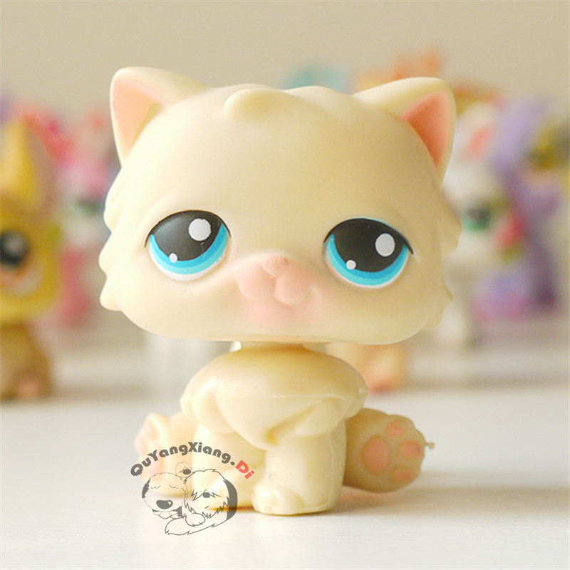 CWM029 Pet Shop Animal Sitting yellow cat doll action Figure kitten | Action & Toy Figures