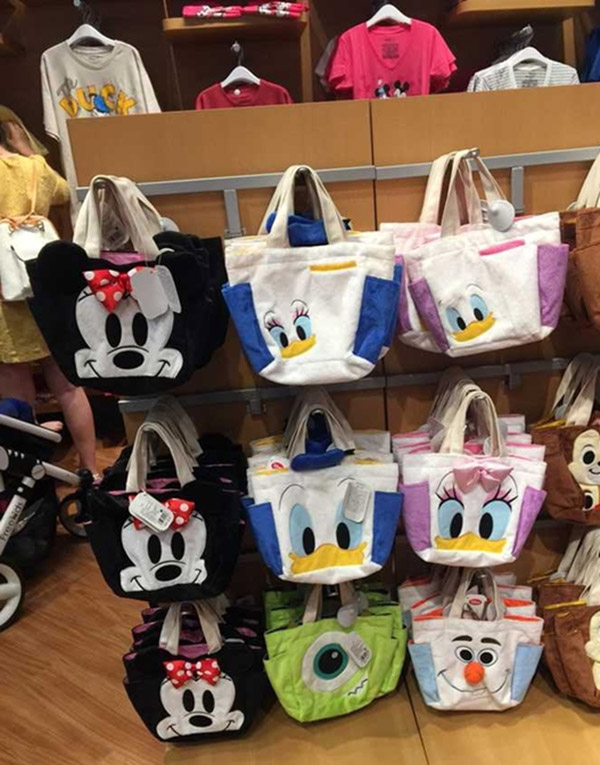 Cartoon Mickey Donald Duck Daisy Squirrel Chipmunk Soft Shoulder Bag Cute Animal Female Student Lunch In Bags From Luggage On