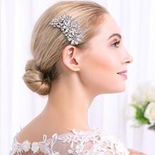 Korean Bride Head Jewelry Fashion Full Crystal Rhinestone Wedding Bridal Hair Comb Miallow brand
