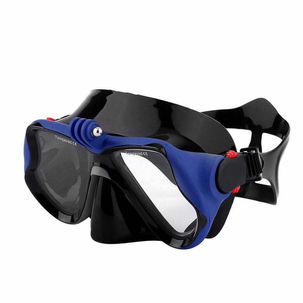 Caliente profesional Cámara submarina buceo máscara de buceo Snorkel gafas de natación para GoPro Xiaomi SJCAM Cámara enviado de deportes de Ru