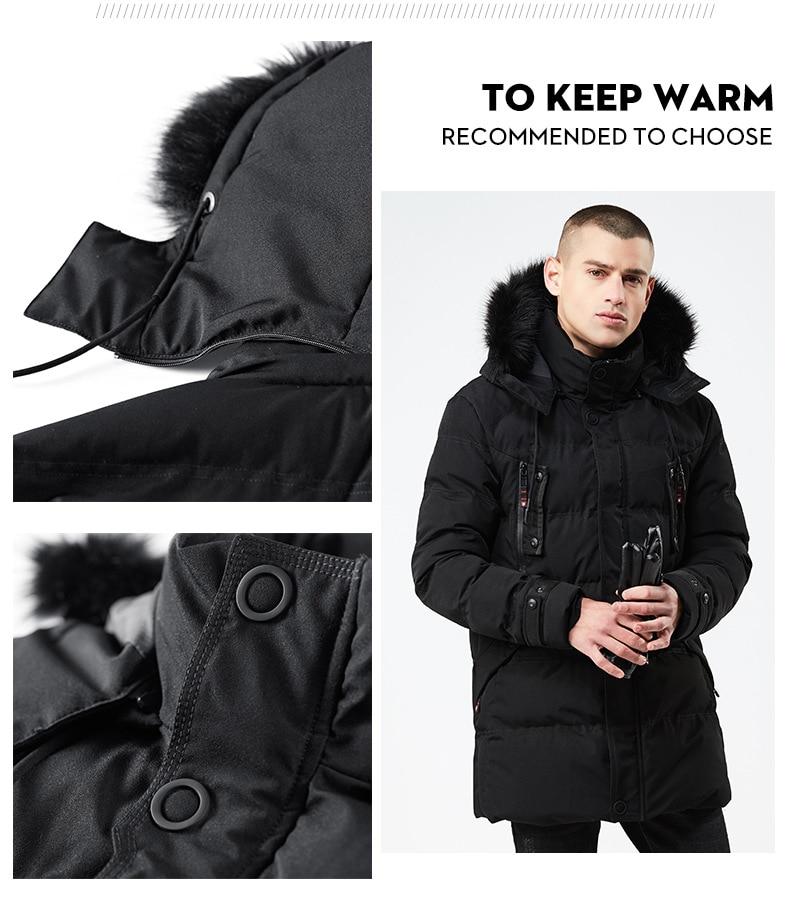 d94d3d77d77 2019 Top New 2018 Winter Men Parka Jacket Long Coat Male Thick ...