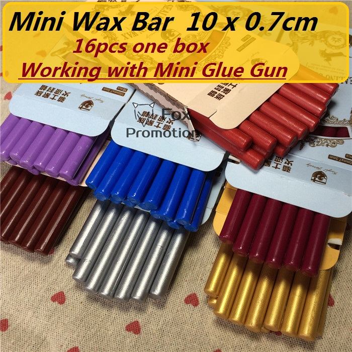 16 teile/paket Hohe Qualität Mini Siegellack Stick Retro Dichtung Stempel Vintage Wachs Stick Sellado Sax palillo sello de la cera de Sellos