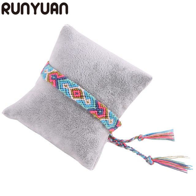 RUNYUAN 2018 Friendship Hippy Boho Bracelets Wrap Thin Cotton Bracelets Woven Ro
