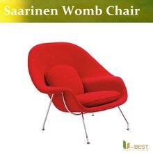 U-BEST Womb Chair Saarinen KNOLL Warren  Fabric Chrome Frame Midcentury Modern DWR