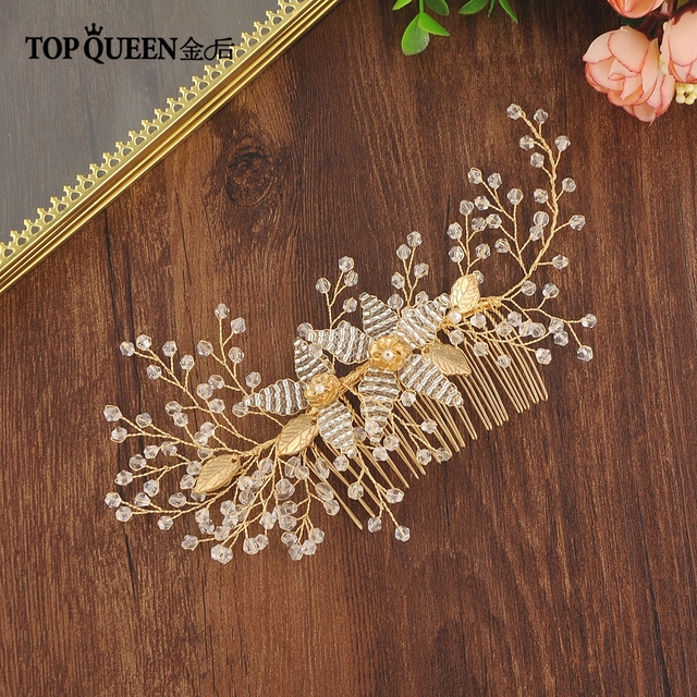 TOPQUEEN HP54 wedding headbands Crystal Hair Accessories Bride wedding comb hair Headpiece Prom Jewelry for Wedding hairpiece