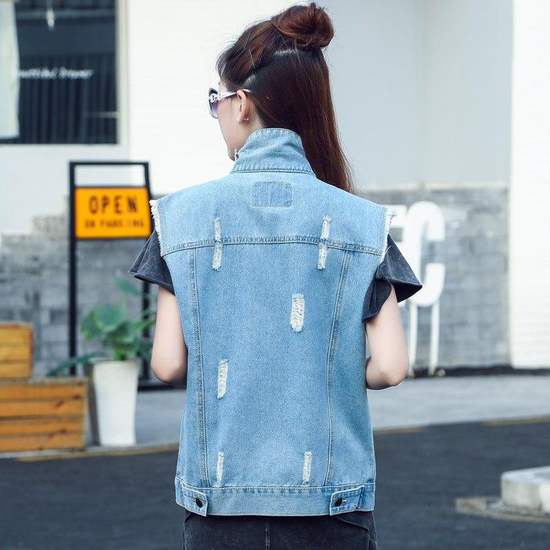 d3ce25a7144 Roupas Femininas No Atacado Women Work Wear Jean Vest Fashion Sleeveless  Cardigans Short Vintage Summer Vest-in Vests   Waistcoats from Women s  Clothing on ...