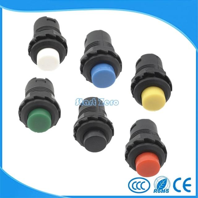 10 pcs interruptores tipo botão de Pressão Momentânea Botão Interruptor 12mm Momentary 3A/125VAC 1.5A/250VAC Botão de Reset