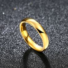 Женское кольцо золотого цвета из нержавеющей стали 1 шт 4 мм