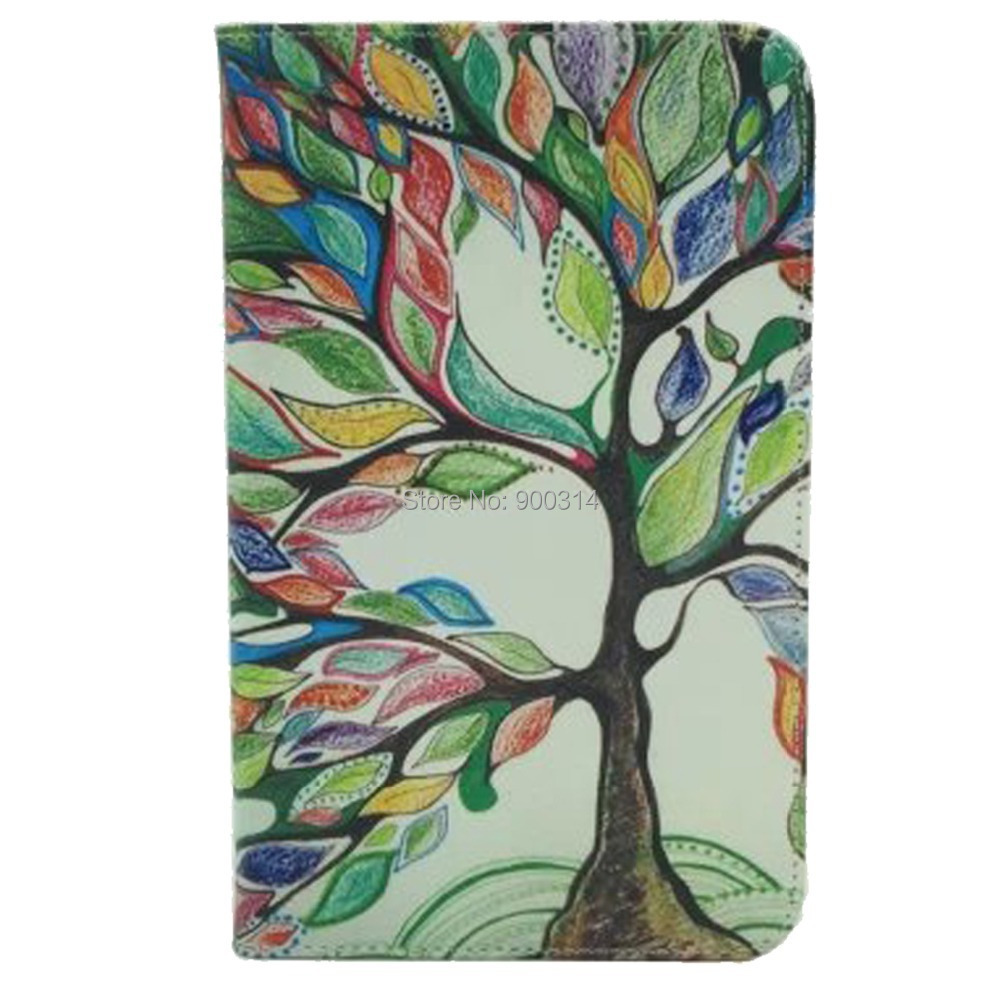10 pcs for samsung galaxy tab 4 7.0 T230 tablet cover case slik print cloth stand card slot +screen touch stylus pen