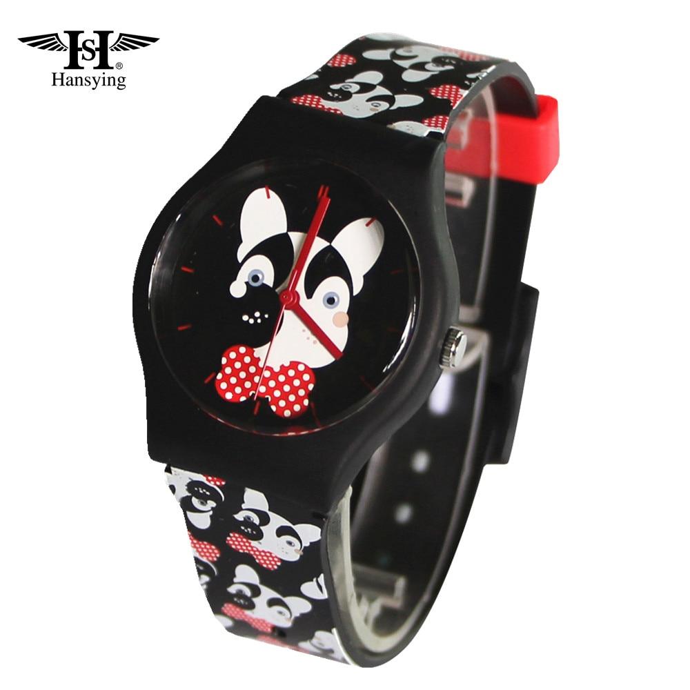 Hansying Cartoon MiNi Dog Design Boy Girls Kids and Student Women Wrist Waterproof Quartz Watch