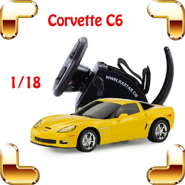 Presente de Ano novo 1/18 Corvette Modelo de Carro de Controle RC Racing Wheel Deriva Luz Veículo Rastreamento Velocidade Elétrica Brinquedos Decoração Presente