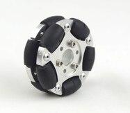 60 mm double aluminum robot contest omnidirectional wheel (Omni wheel) 14145 60MM universal wheel 70mm double layers plastic omniwheel conveyor robot wheel omni directional double layer bearing caster roller