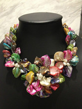 Natural Shell Flower Necklace Handmade Bohemia Women Jewelry Free Shipping