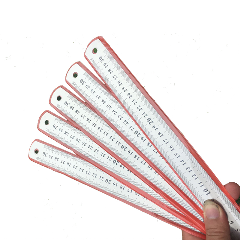 1Pcs Steel Metal Ruler 15cm/20cm/30cm 6/8/12 Inch  Double Sided Office Stationery Drafting Supplies Straight Ruler