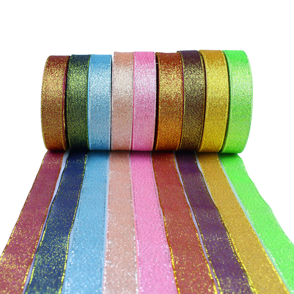 1PCS 2cm Ribbon Satin Ribbon Rolls Wedding Party Decoration Candy Box Packaging Decor Supplies 9 Colors