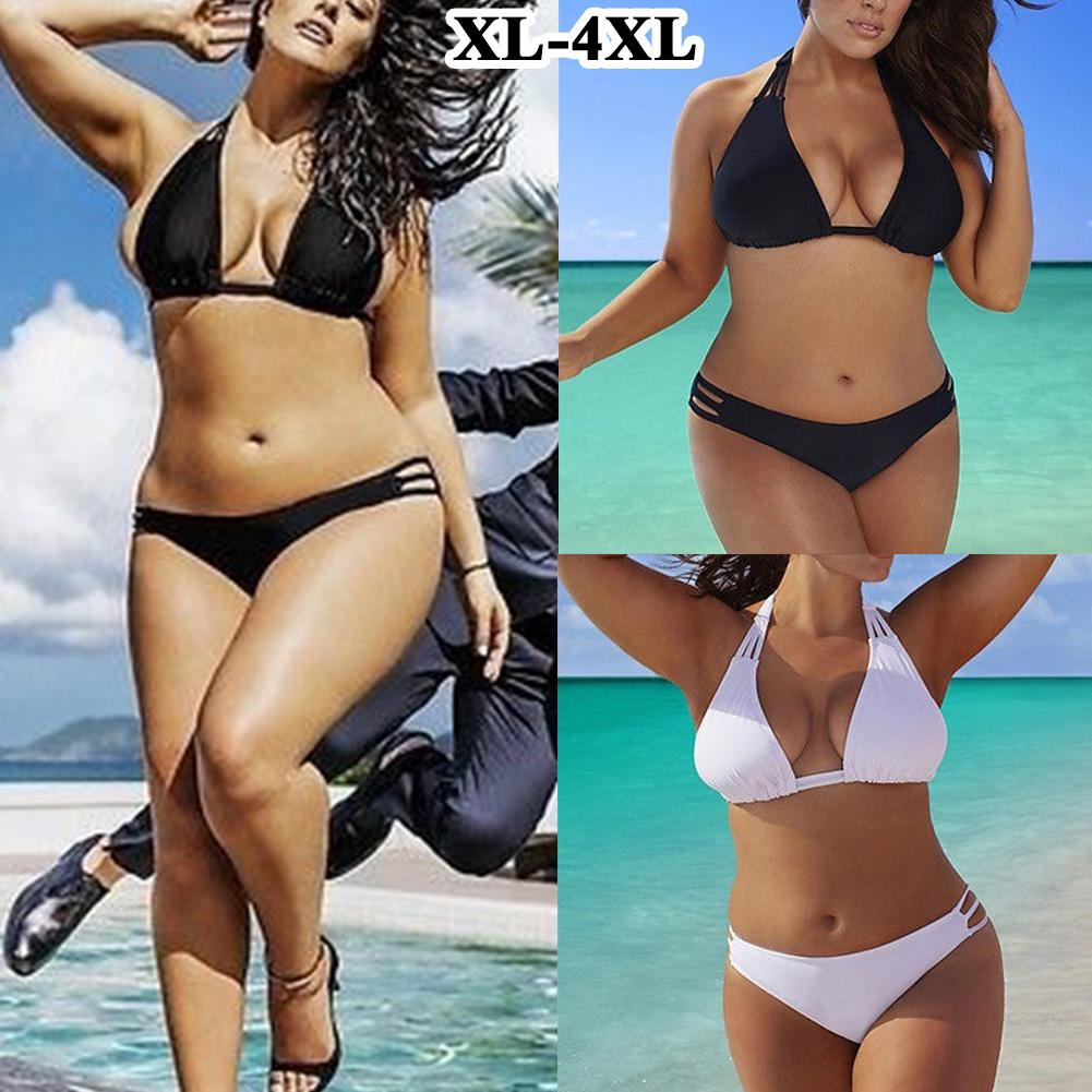 <font><b>Plus</b></font> <font><b>Size</b></font> Bikini Set For Women Biquini Low Waist <font><b>Push</b></font> <font><b>Up</b></font> Swimsuit <font><b>Swimwear</b></font> Bikini <font><b>2018</b></font> Women's Swimsuits <font><b>Sexy</b></font> Big <font><b>Large</b></font>-<font><b>Size</b></font> 4XL image