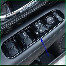Porta do carro Painel de botões Do Elevador janela de ajuste do espelho retrovisor Capa Guarnição Carro-Styling Para Honda HRV HR-V 2014 -2017 LHD Auto Peças