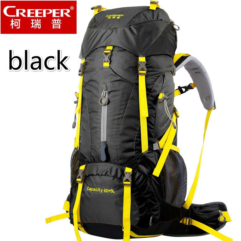 Creeper Free Shipping 60 5L Professional Waterproof Rucksack Internal Frame Climbing font b Camping b font