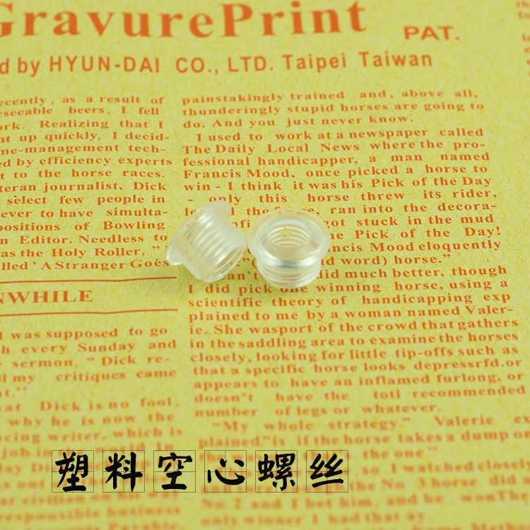 Holle plastic schroef met M10 Plastic draad tand buis lamphouder schroef plastic cover Ondersteuning lijn Verlichting accessoires DIY