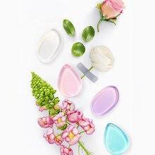 Esponja de maquiagem faixa de gel, mini esponja de silicone lavável para base e cosméticos