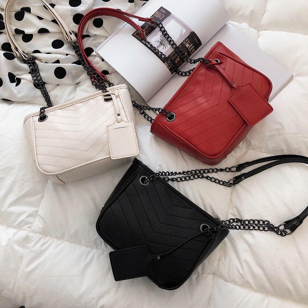 Women\'S Handbag Pu Leather Bucket Bag Women\'S Messenger Bag Handbag Casual Designer Composite Shopping Bag Bolsa