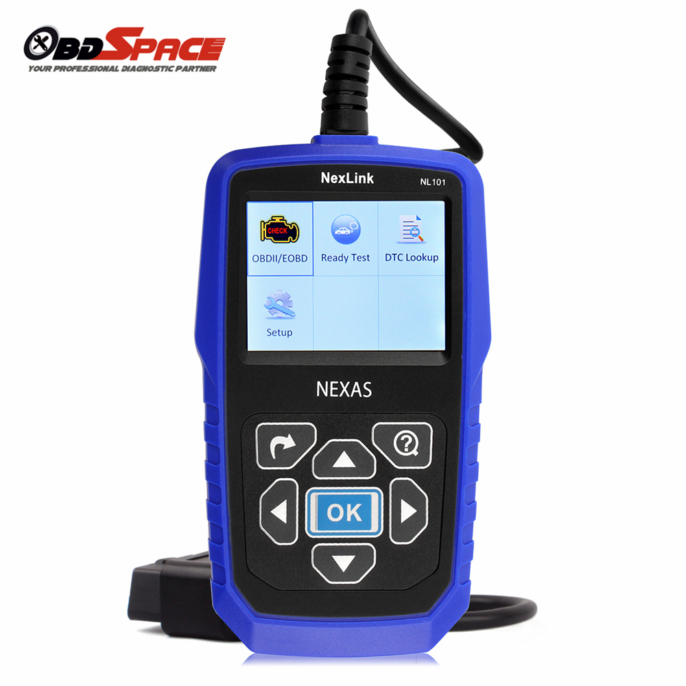 universal auto diagnostic scanner nexas nl101 obdii obd. Black Bedroom Furniture Sets. Home Design Ideas