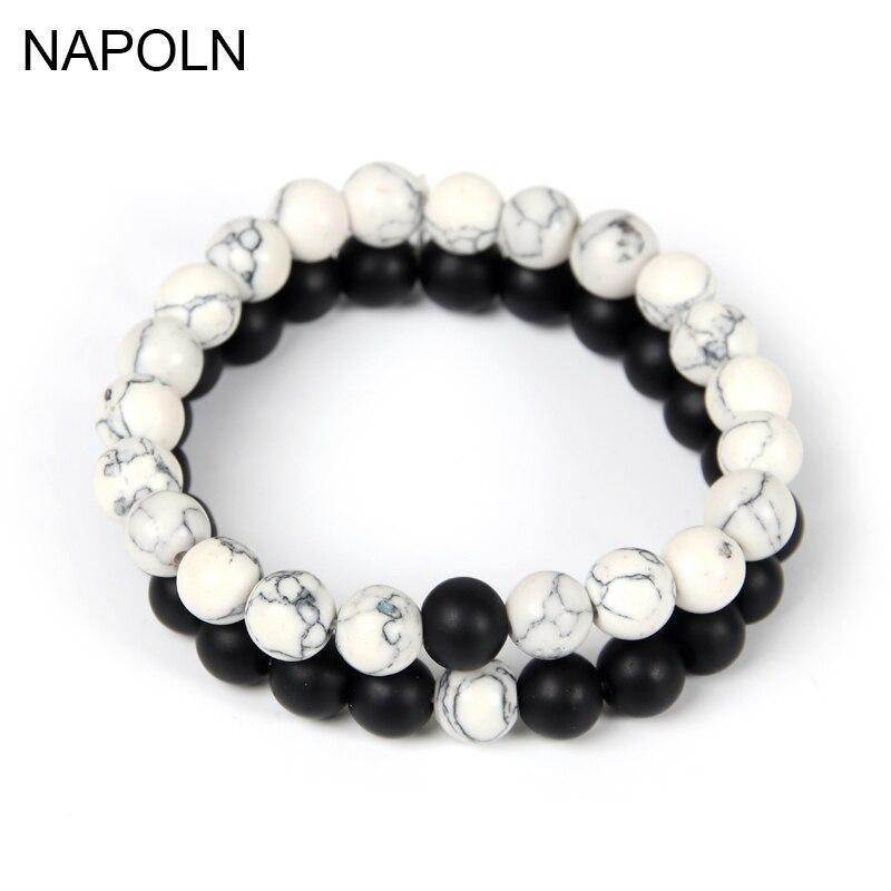 Chakra hématite Perle en pierre Stretch bracelet de guérison magnétique AS