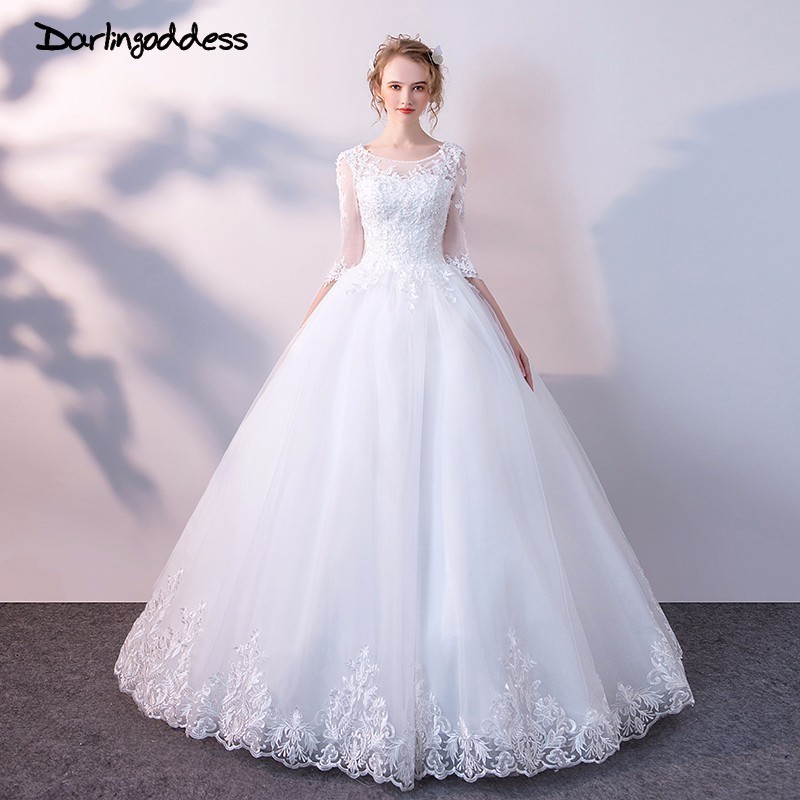 Cheap Plus Size Ball Gown Wedding Dresses: Darlingoddess White Vintage Lace Cheap Wedding Dresses
