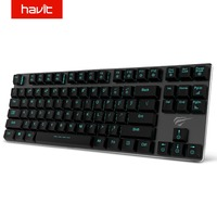 HAVIT Mechanical Keyboard 87 Keys Ultra Low Axis Metal Keyboard Wired USB Mini Gaming Keyboard Blue Switches for PC HV KB390L