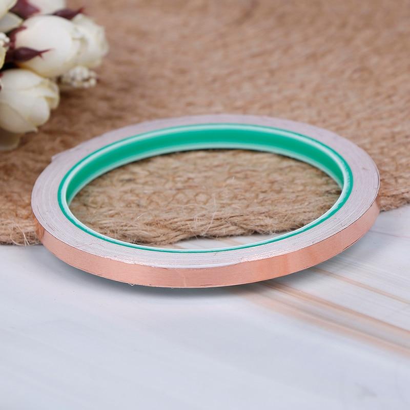 6mmx10m Copper foil shielding tape conductive self adhesive heat insulation  LD