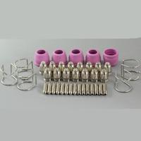 WSD 60P P60 Plasma Cutter Cutting Torch Pilot ARC Consumables KIT Plasma Tips 1.2mm 60Amp 40pcs plasma tips plasma cutter torch plasma cutter tips -