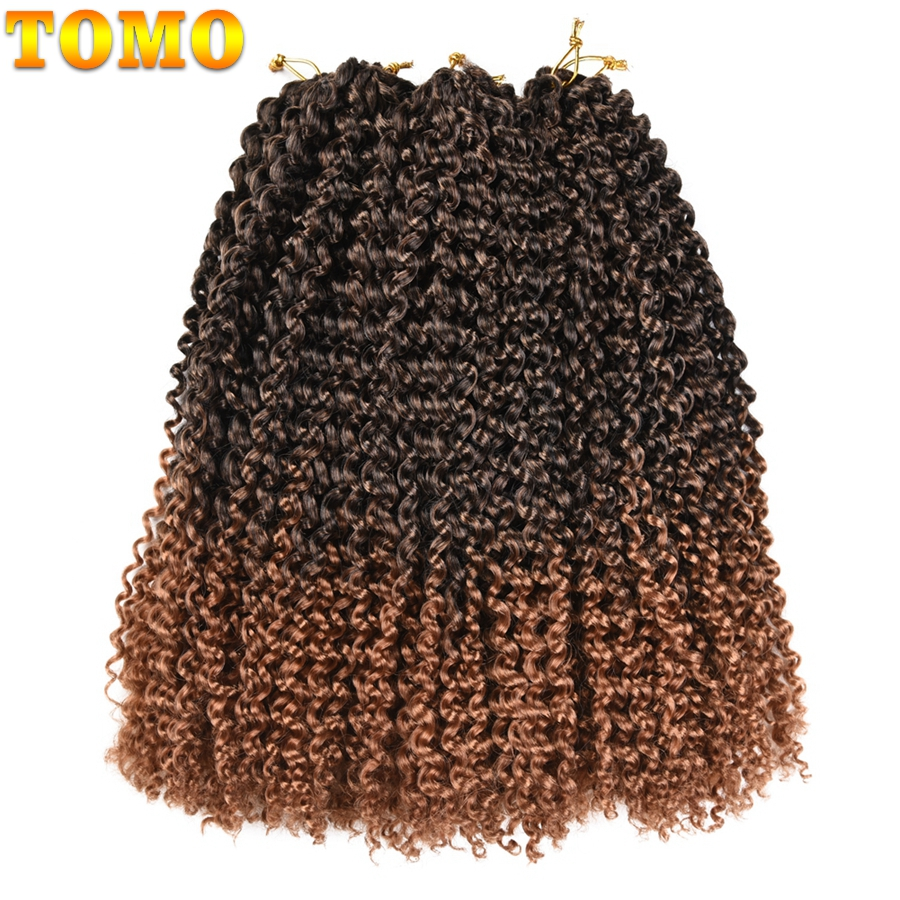 """TOMO Marley Braids 8"""" 10"""" 12"""" Kanekalon Braiding Hair Extensions 24Strands/Pack Ombre Synthetic Crochet Braids"""