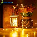 Cadena de hadas luz Navidad 1 M/2 M impermeable cobre mini decoración lámpara de hadas para el hogar, boda operada por batería CR2032