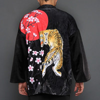 Cardigan Kimonos Men Japanese kimono cardigan cosplay shirt for men Japan yukata male Winter warm fleece kimono X9154