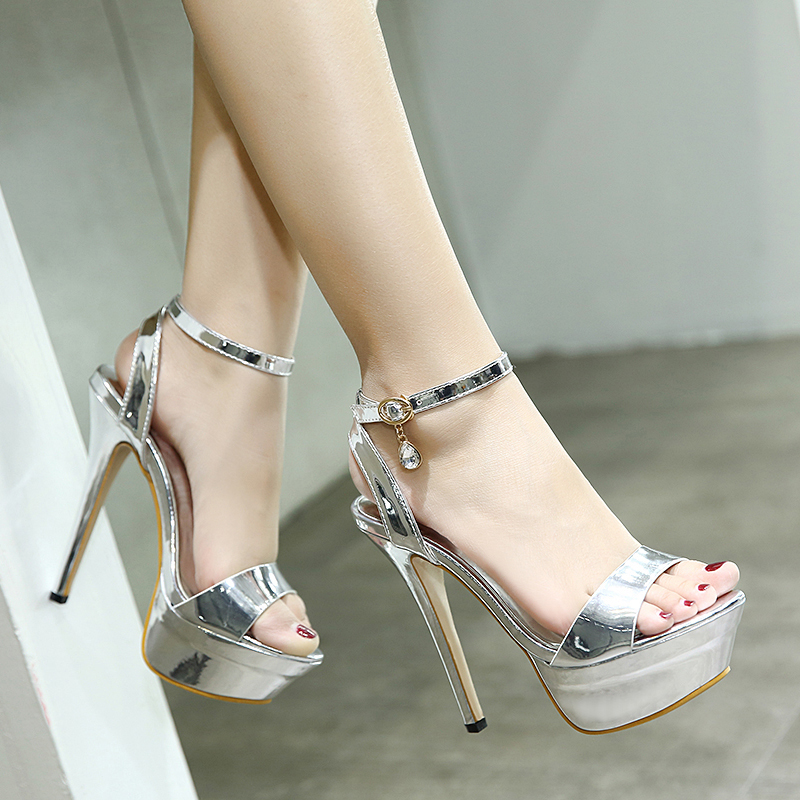 Women Summer Sexy Sandals Thin High Heel Sandals Female Open Toe Shoes Ladies Wedding Party Fashion Platform Pumps Sandals MC-66