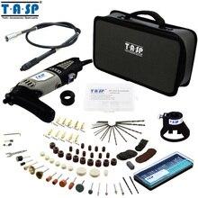 TASP 220 V 170 W Estilo de Herramienta Rotativa Dremel Mini Taladro Eléctrico de Velocidad Variable con Accesorios de Eje Flexible 175 UNID Bolsa De Almacenamiento conjunto