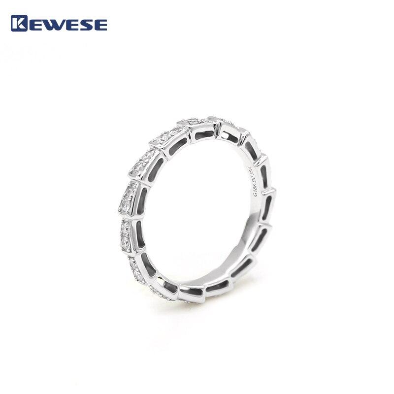 18k Bianco anello di Diamanti In Oro design unico brillante Anello A Forma di Serpente per il delicato monili Di Modo della signora che rappresenta autorità
