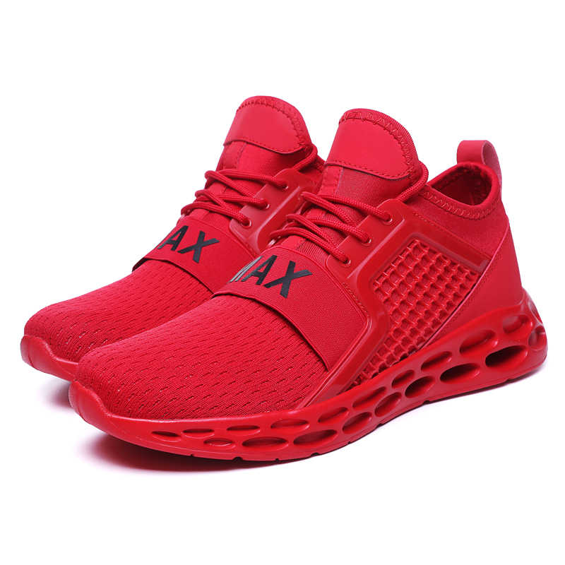 5766b0af0 Cushioning Men Breathable Running Shoes New Style Black Sport Shoes for Man  Mesh Sneakers Red Athletic