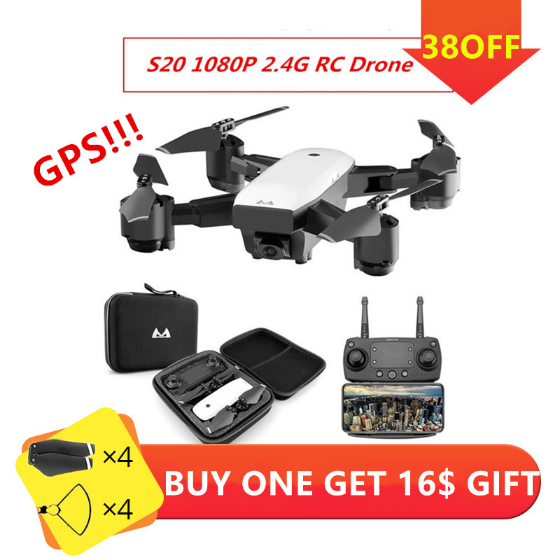 Racing Dron with Camera HD Wide Angle 1080P 5MP WIFI FPV Helicoptero RC Drone Profissional Follow Me GPS Quadcopter Aircraft Toy