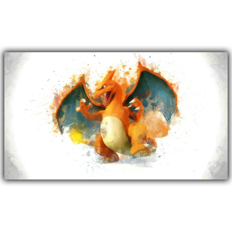 Pet Baby Posters Home Decoration Charizard Wallpaper Decorative Painting Decorative Silk Products Dm097