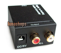 Digital Optical Coaxial To Analog RCA Audio Converter Adapter LN001569