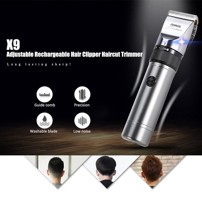 RIWA X9 Professionelle Haarschneider Elektrische Haarschneidemaschine Trimmer Haar Schneiden Rasieren Maschine Haarschneider Rasierer für Männer-EU STECKER