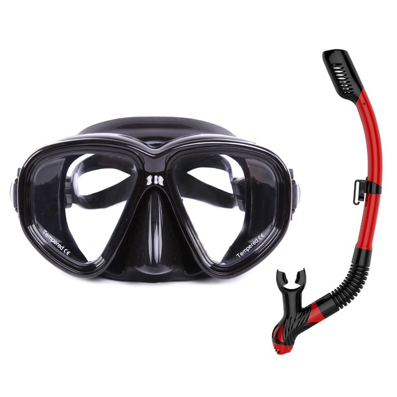 Adult diving swimming mask full face ventilation anti fog glasses, portable underwater breathing apparatus underwater fishing