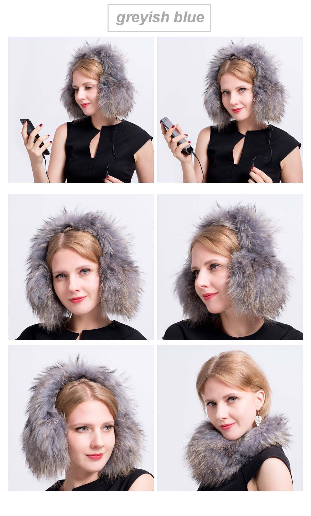 fox fur earmuff color 5