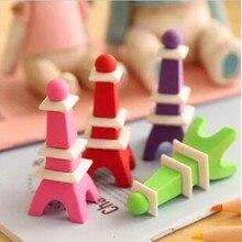 1 шт., ластик для карандашей в форме Эйфелевой башни, школьные принадлежности, канцелярские Ластики для детей, разные цвета, 3D дизайн, ластик