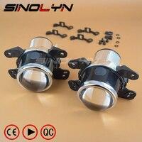 SINOLYN OEM HID Bi Xenon Fog Lights Projector Lens Driving Lamps Retrofit For Dodge Journey Jeep