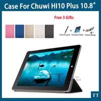 高品質超薄型ケース用chuwi Hi10プラス10.8インチタブレットpcファッションpuケースカバー用chuwi hi10プラス+送料3贈り