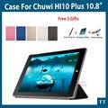 De alta calidad ultra-delgado case para chuwi hi10 plus 10.8 pulgadas tablet pc moda pu case cubierta para chuwi hi10 plus + gratis 3 regalos